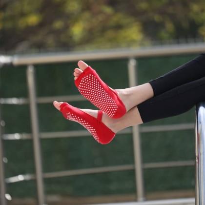 Yoga Pilates Fitness Dans Aktivite Çorabı - Kaymaz Tabanlı Parmaklı Çorap