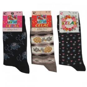 Celal Desenli Likralı Bayan Soket Çorap